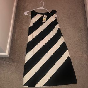 Black white dress/ inc medium - striped